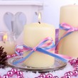 Christmas candles close up — Stock Photo #37852215