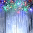 Christmas lights on wooden background — Stock Photo #37886081