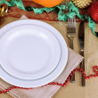 Diet during New Year's feast close-up — Stockfoto #37902731