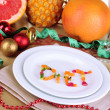 Diet during New Year's feast close-up — Stockfoto #37902751
