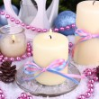 Christmas candles close up — Stock Photo #37902985