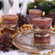 Christmas candles close up — Stock Photo #37902989