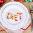 Diet during New Year's feast close-up — Stockfoto #37925317
