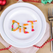 Diet during New Year's feast close-up — Stock fotografie #37925317