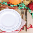 Diet during New Year's feast close-up — Stockfoto #37933607