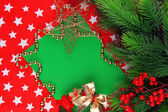 Christmas card on bright background — Stock Photo
