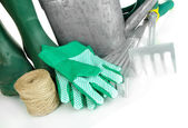 Gardening tools close up — Stock Photo