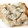 Stock Photo: Crumpled paper balls isolated on white