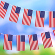 Garland of flags on bright background — Stock Photo #37957445
