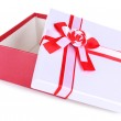 Beautiful gift box isolated on white — Stock Photo