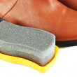 Shoe Polishing close up — Stock Photo
