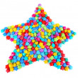 Stock Photo: Paper stars with dreams isolated on white