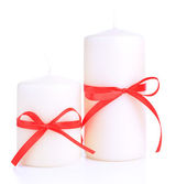Candle isolated on white — Stock Photo