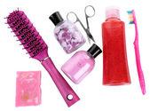 Hygienic equipments, isolated on white — Stock Photo