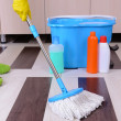 House cleaning with mop — Stock Photo #38186007