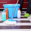 House cleaning with mop — Stock Photo #38186017
