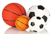 Sport balls, isolated on white — Stock Photo