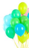 Barevné bubliny izolovaných na bílém — Stock fotografie