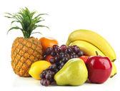 Tasty fruits isolated on white — Stock Photo