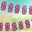Garland of flags on bright background — Stock Photo #38219665