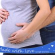 Pregnant woman with her husband close up — Stock Photo