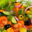 Fresh salad in plate — Stock Photo