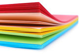 Colorful art paper isolated on white — Stock Photo