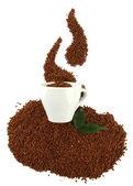 白で隔離されるインスタント コーヒー カップ — ストック写真