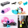 Fitness equipment collage — Stockfoto #38390137