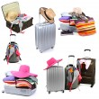 Stock Photo: Collage of luggage for travel