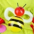 Stock Photo: Simple balloon animal bee, on bright background
