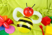 Simple balloon animal bee, on bright background — Stock Photo