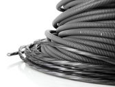 Black cables close-up isolated on white — Stock Photo