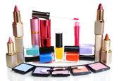 Nová sada make-up izolované na bílém — Stock fotografie