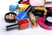 Scattered cosmetics close up — Stock Photo