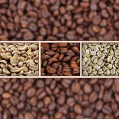 Coffee beans collage — Stock Photo