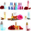 Collage of luxury perfumes — Stock Photo #38589109