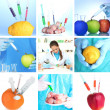 Genetic engineering laboratory. GMO food concept — Stock Photo #38589127