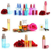 Collage of luxury perfumes — Stock Photo