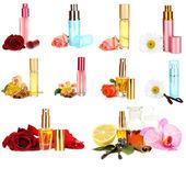 Collage of luxury perfumes — Stock Photo