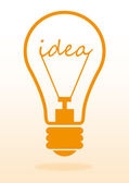 Effective thinking concept. Bulb with innovation idea on light background — Stock Photo