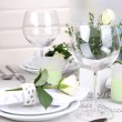 Table arrangement in restaurant — Stock Photo #38595299