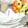 Table arrangement in restaurant — Stock Photo #38595301
