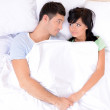 Couple in love sleeping in bed — Stock Photo #38595775