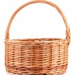 Empty wicker basket, isolated on white — Stock Photo #38600567