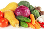 Composition of different vegetables close up — Stock Photo