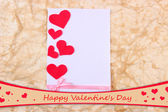 Beautiful romantic background with decorative hearts — Foto de Stock