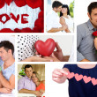 Collage of Valentine's Day. Beautiful couples — Stock Photo #38739565