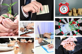 Collage of business life — Stock Photo
