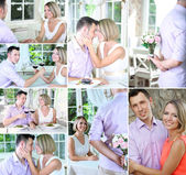 Collage of beautiful couple — Stock Photo